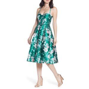 Eliza J Floral Jacquard Fit & Flare Dress- 10